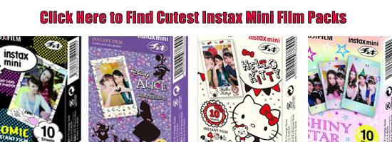 Cute Instax Mini Film Packs